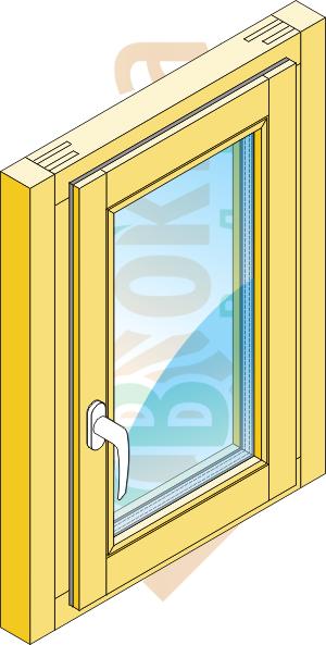 Окно с доборным брусом